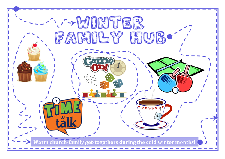 Winter Family Hub A6 postcard